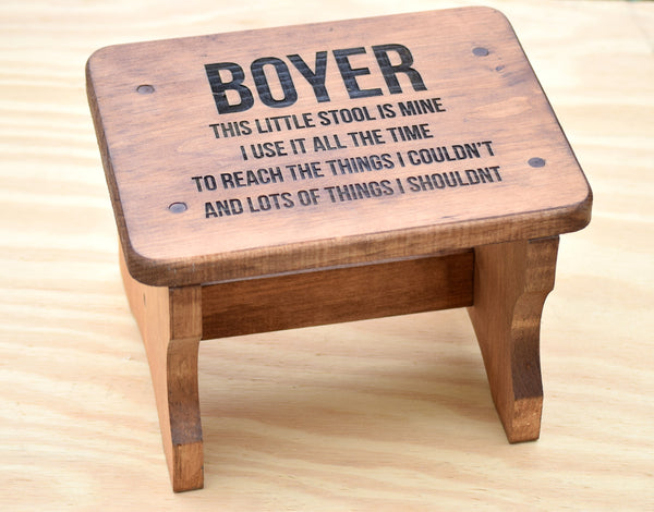 Personalized Kids Stepping Stool