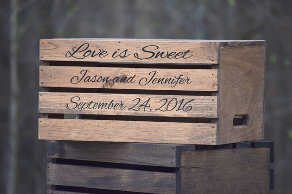 Wedding Cake Crate with Personalized Engraving