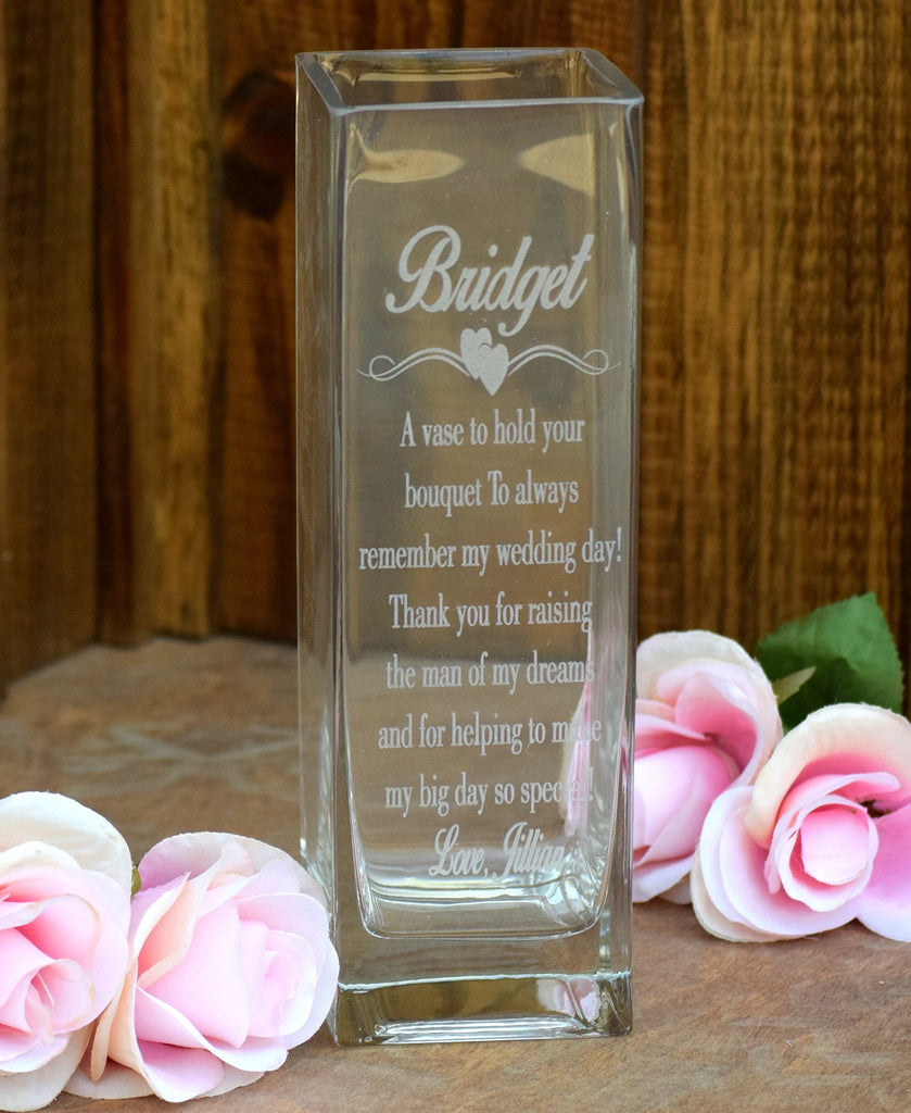 Laser Engraved Glass Vase