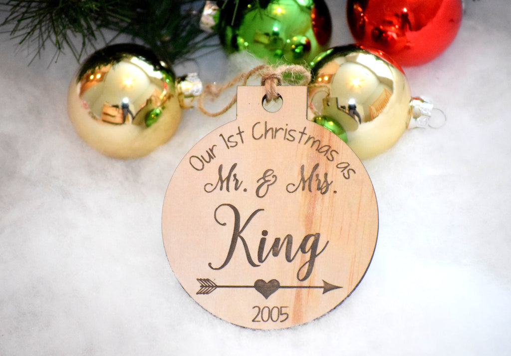 First Christmas Personalized Ornament