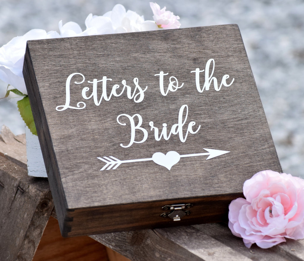 Dark Walnut Letters to the Bride Box