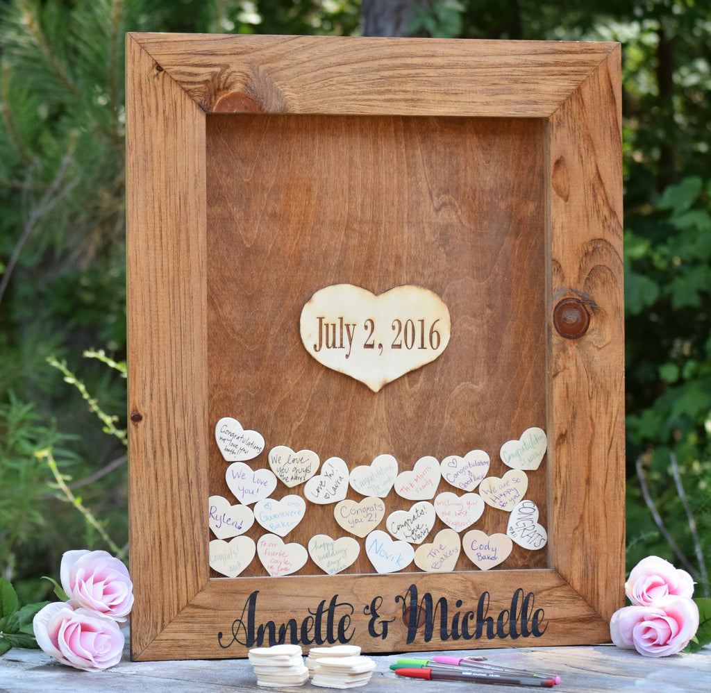 Heart Drop Wedding Guest Book Alternative