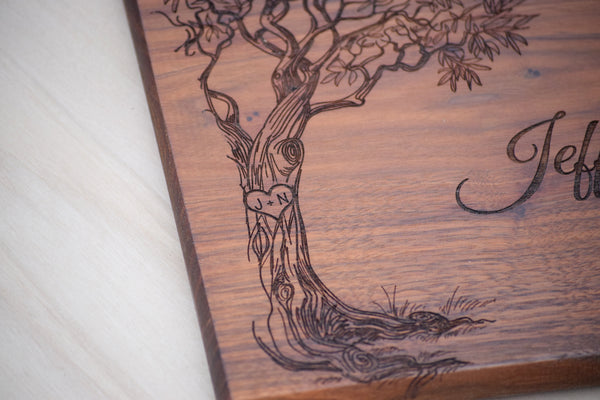 Love Tree Cutting Board
