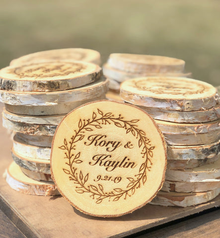 Personalized Engraved Wooden Coasters