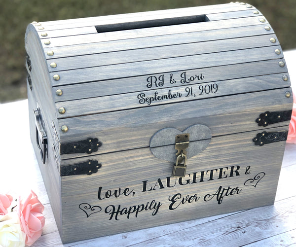 Love Laughter & Happily Ever After Personalized Card Chest