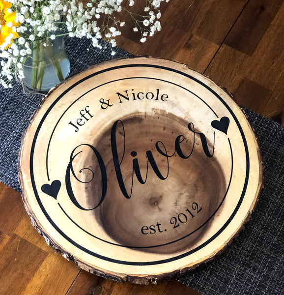 Personalized Wood Lazy Susan Turntable