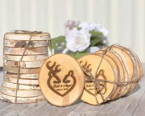 Browning Couple Wooden Coasters