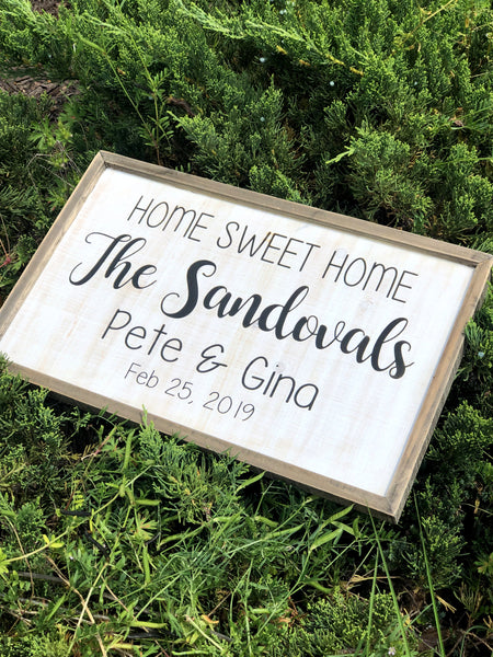 Personalized Farmhouse Welcome Sign