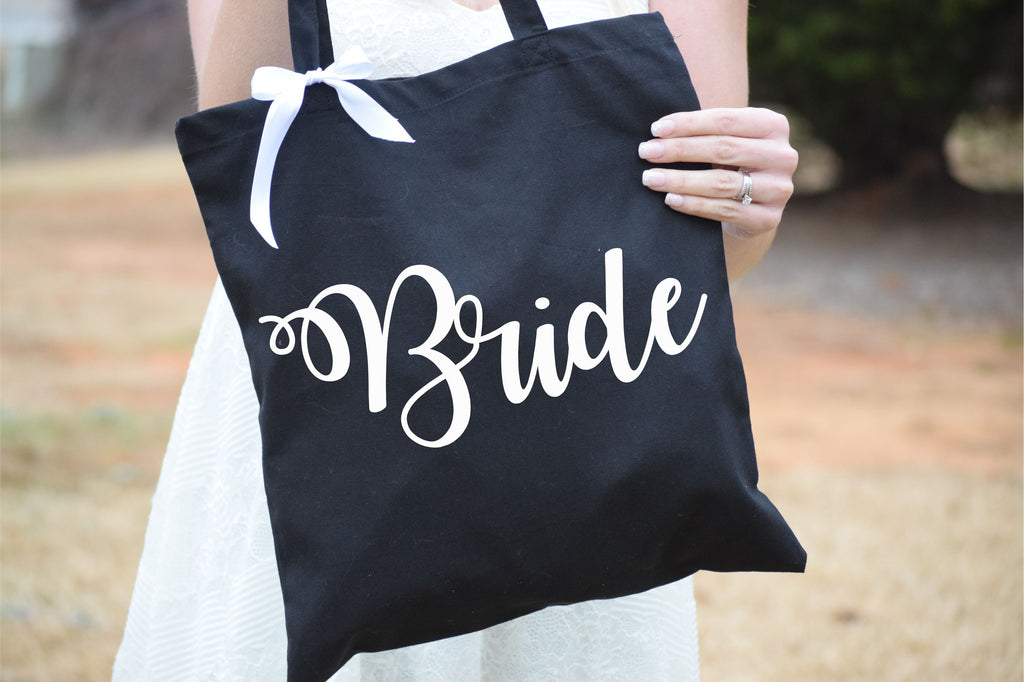 Personalized Bridal Tote Bag