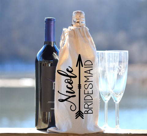 Bridesmaid Bottle and Gift Bag