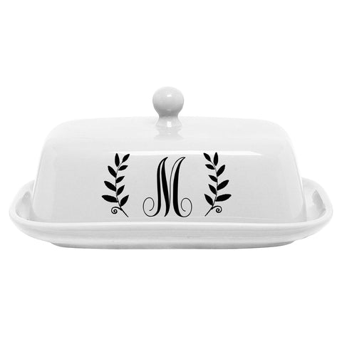 Personalized Porcelain Butter Dish