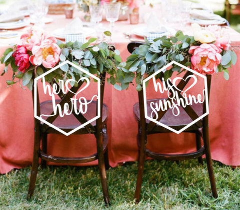 Hexagon Shaped Chair Signs
