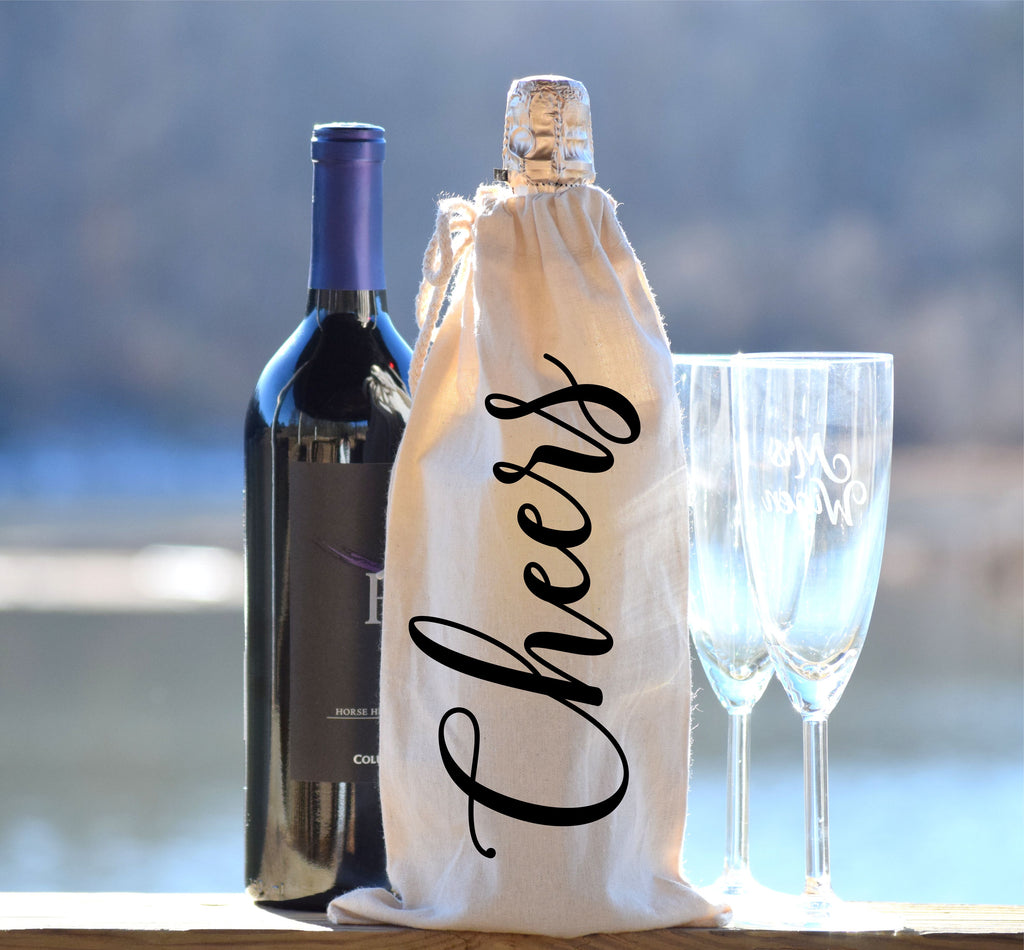 Cheers Wine and Champagne Bottle Bag