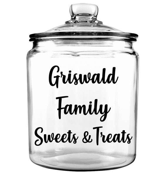 Sweets and Treats Glass Cookie Jar