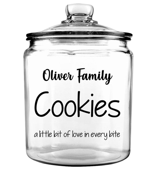 Family Glass Cookie Jar