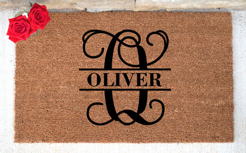 Last Name Monogram Personalized Doormat
