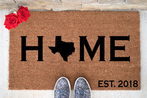 HOME Doormat with State Insert