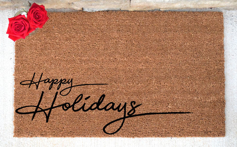 Happy Holidays Doormat