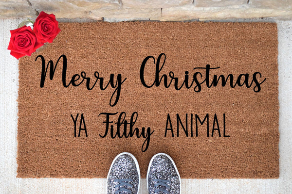 Merry Christmas Ya Filthy Animal Doormat