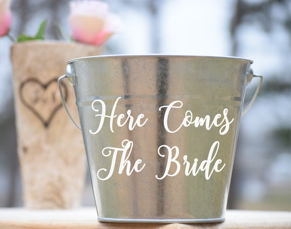 Here Comes The Bride Flower Girl Basket