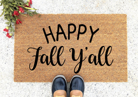 Happy Fall Y'all Doormat