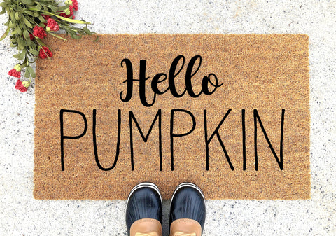 Hello Pumpkin Doormat