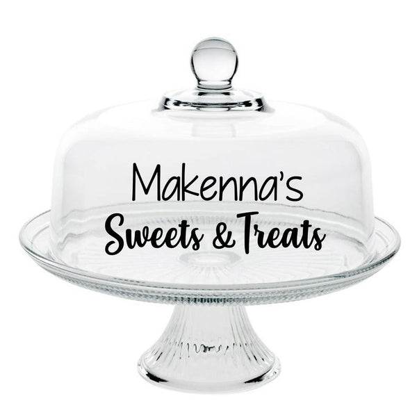 Sweets and Treats Glass Cake Stand