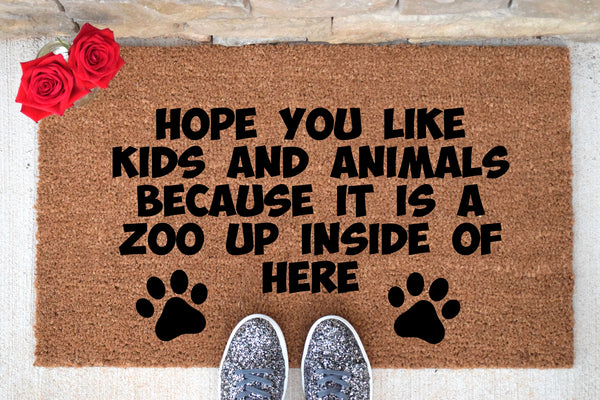 ITS A ZOO Custom Doormat