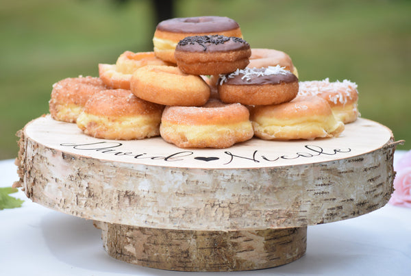 Raised Tree Slice Cake Stand