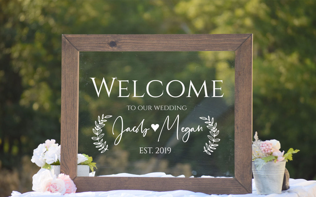 Clear Acrylic Wedding Sign
