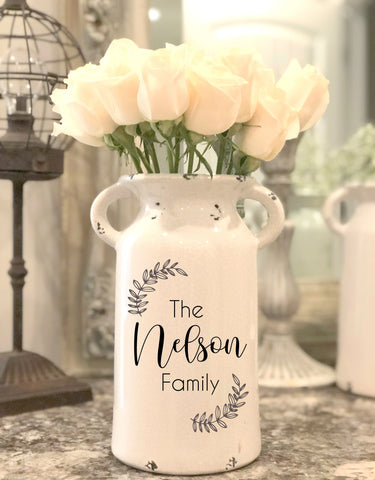 Personalized Ceramic Milk Can
