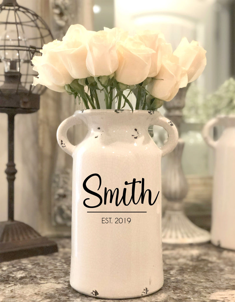 Personalized Milk Can