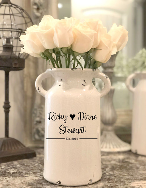 Personalized Farmhouse Milk Can