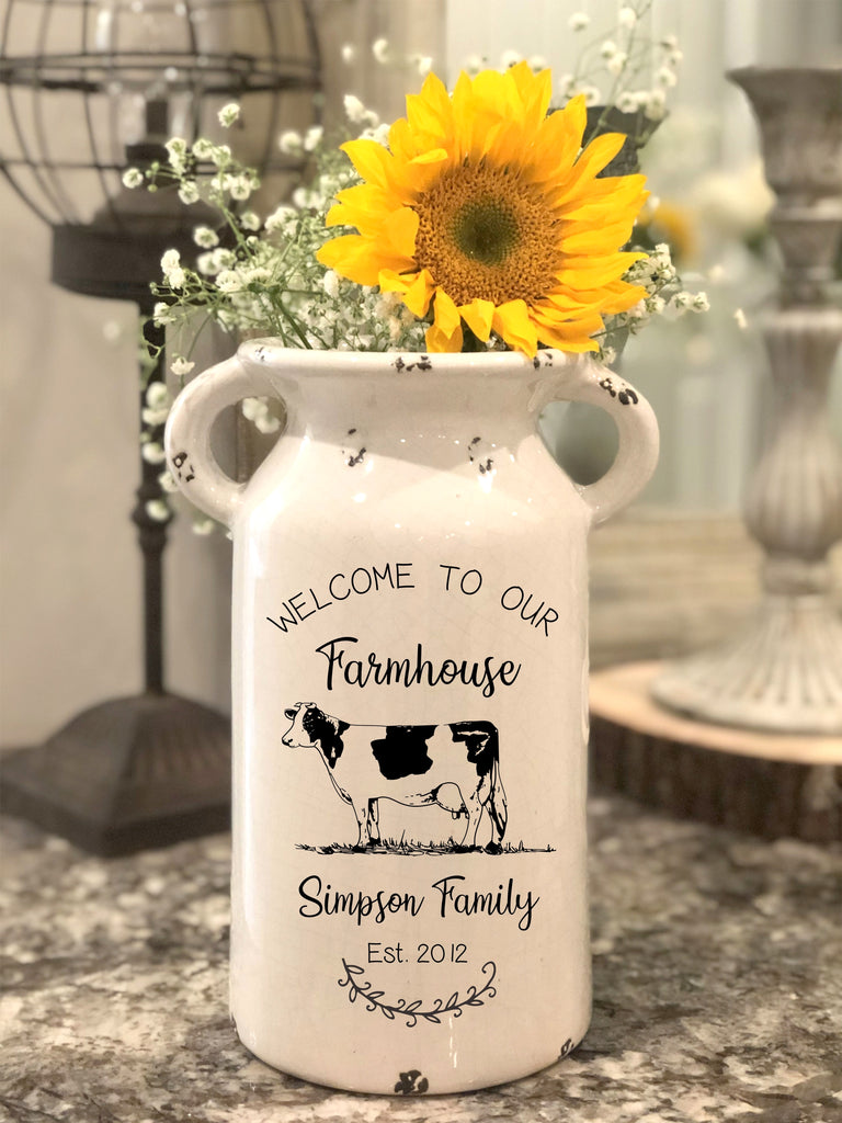 Welcome to Our Farmhouse Milk Can