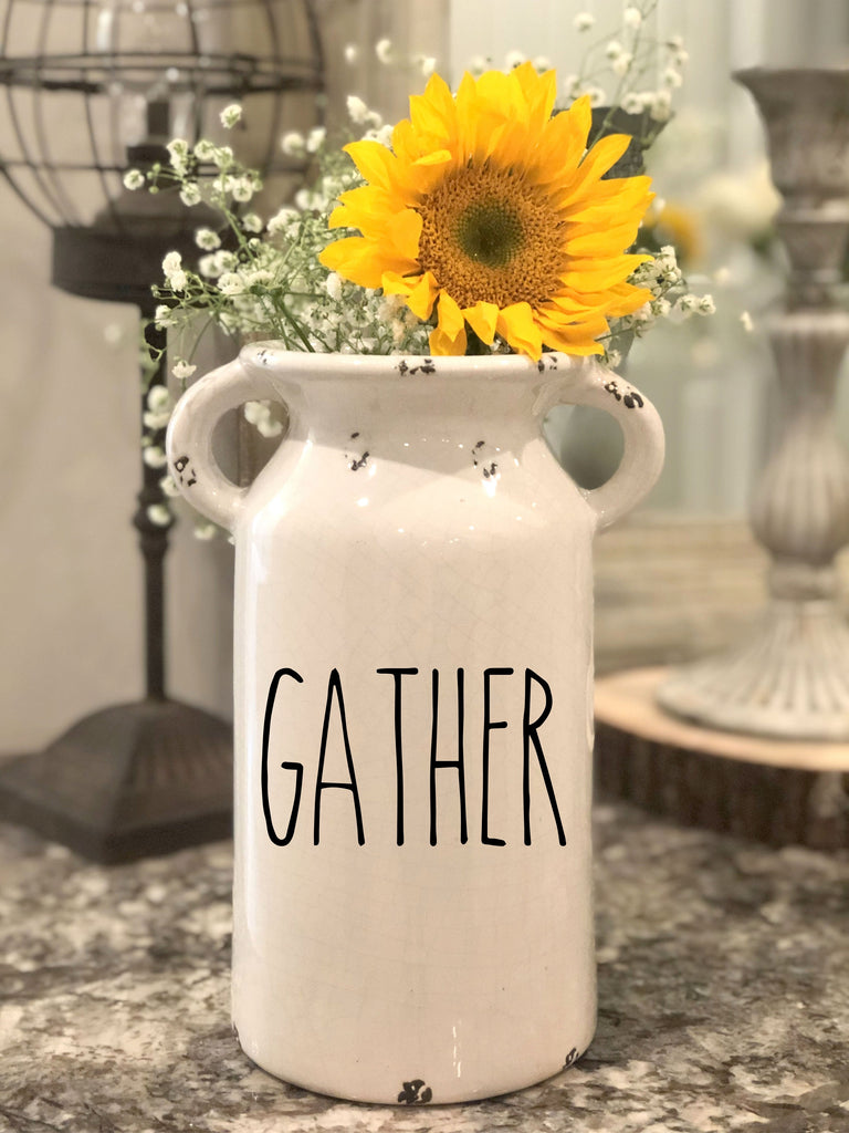 Rae Dunn Inspired Farmhouse Milk Jug