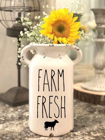 Rae Dunn Inspired Farm Fresh Milk Jug