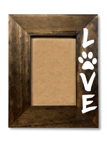 Pet lover Picture Frame -4x6 Personalized Picture Frame - Picture Frame - Wood Picture Frame -