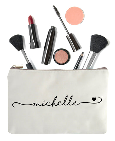 Bridal Party Makeup Bags with Name