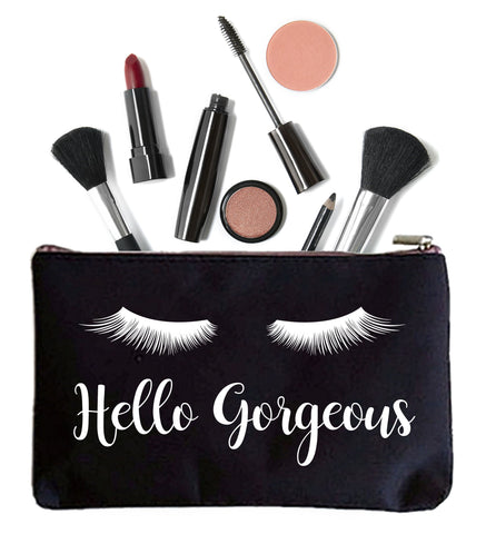 Hello Gorgeous Makeup Bag with Eye Lashes