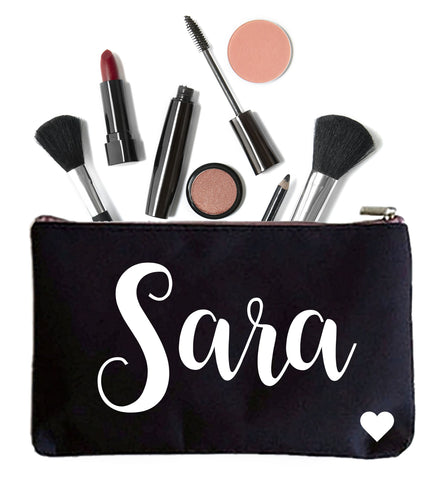 Personalized Makeup Pouch with Name