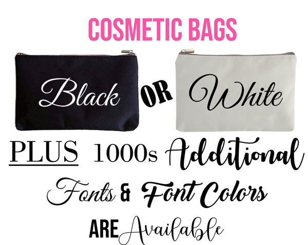 Bridesmaid Makeup Bag with Personalized Name