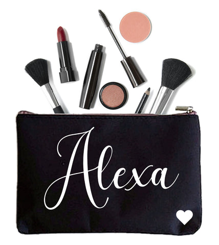 Makeup Bag with Personalized Name