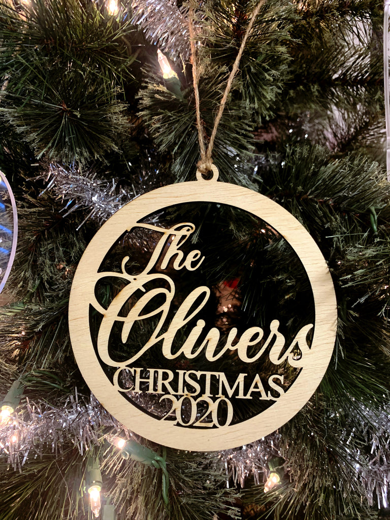 Personalized Wooden Christmas Ornament- Engraved Ornament-Christmas Gift