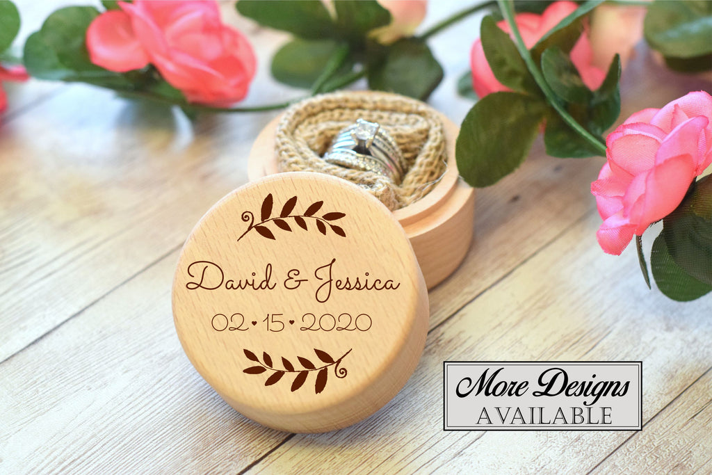 Personalized Round Ring Box