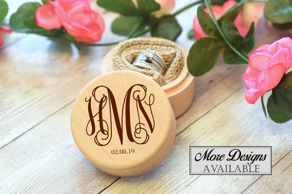 Monogram Round Ring Box