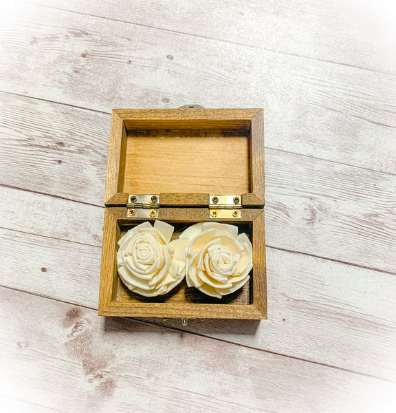 Personalized Sola Flower Ring Bearer Box-Small