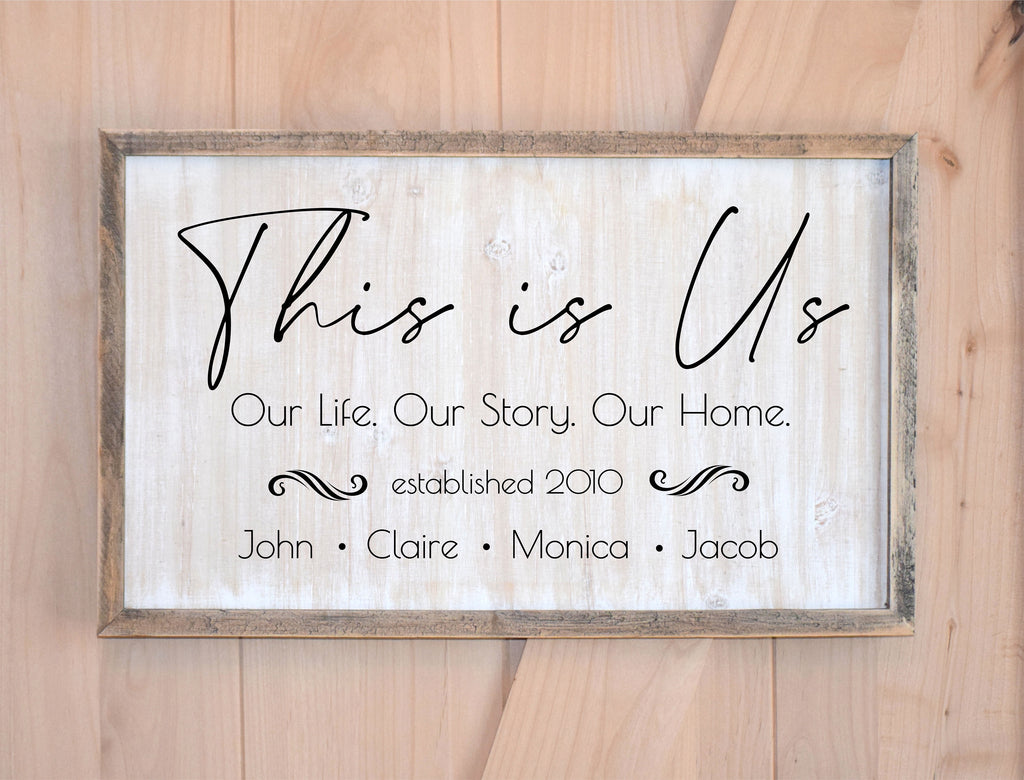 This is Us Farmhouse Welcome Sign