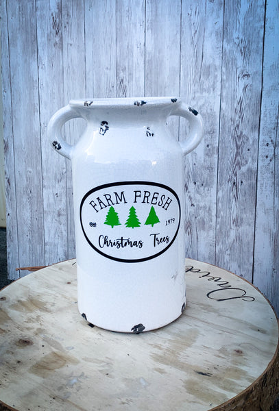 Farm Fresh Christmas Tree Milk Jug-Christmas Milk Jug