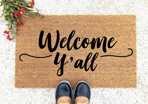Welcome Y'all Personalized Doormat