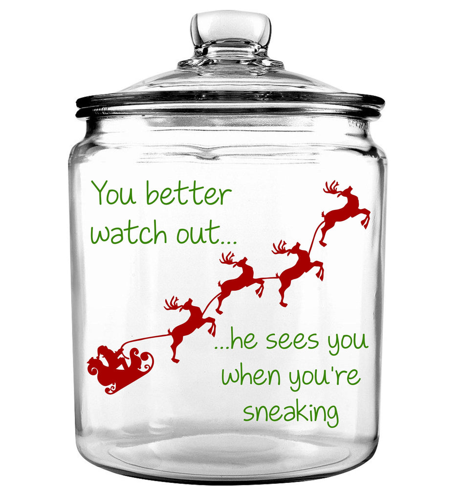 You Better Watch Out... Santa Cookie Jar
